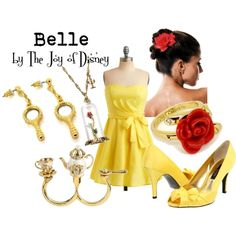 """""""Belle -- Beauty and the Beast"""" by thejoyofdisney on Polyvore; HATE the shoes"""