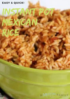 Instant Pot Mexican rice is a perfect simple side dish to accompany any Mexican recipe. It cooks quickly in the Instant Pot and yields perfectly cooked flavorful rice.  #themelrosefamily #instantpotmexicanrice #instantpotmexican #instantpot #mexicanrice #newrecipe #healthytreat #healthyrecipe #healthymeal #buzzfeedfood  #tastytasty #todayfood