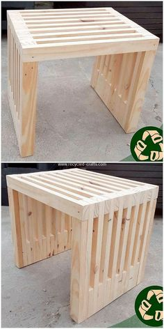 ↗️ 70 Design Ideas Of Wooden Coffee Table Projects that are Easy to Do 5988 - Pallet Furniture Ideas Diy Garden Furniture, Diy Outdoor Furniture, Diy Furniture Plans, Woodworking Furniture, Pallet Furniture, Furniture Projects, Pallet Stool, Furniture Assembly, Furniture Storage