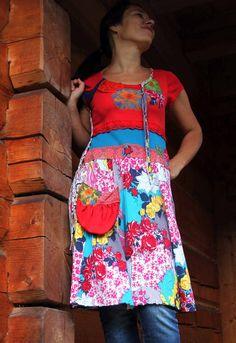 romantic floral dress tunic by jamfashion on Etsy, $55.00
