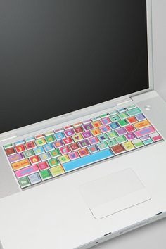 Removable stickers for the keyboard ... who knew keys could be colourful?!