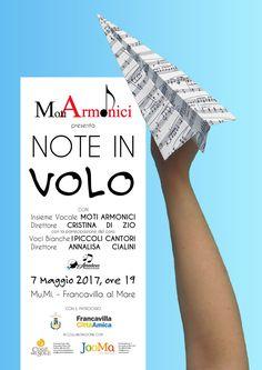 Note in Volo - Locandina del concerto organizzato dall'associazione culturale Moti Armonici
