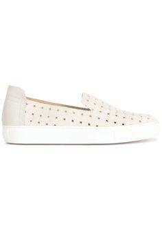 Musthave Rachel Zoe SLIPON WIT/ROSE (wit) Dames sneakers van het merk rachel zoe . Uitgevoerd in wit.