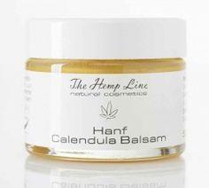 Hanf Calendula Balsam - Intensiver Pflegebalsam auf Lanolinbasis mit einem hohen Gehalt an hochwertigem Hanföl und Calendula. Zertifizierte Naturkosmetik von -The Hemp Line - natural cosmetics - feel the nature on your skin #hanf #hemp #eco #bio #organic #natur #cosmetic