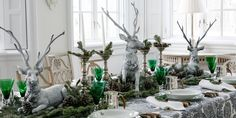 Carolyne Roehm Creates a Magical Woodland-Inspired Table Setting #archdigest
