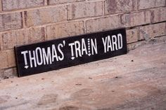 Train Lover's Personalized Painted Sign