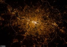London calling: Astronaut Chris Hadfield took this photograph, of the British capital, from the space station.