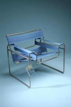 Armchair, Wassily. Designed by Marcel Breuer for Knoll International