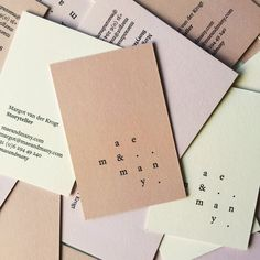 maeandmany business cards