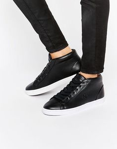 f359f7df9 Lacoste Premium Leather Straightset Chukka Hi Top Sneakers