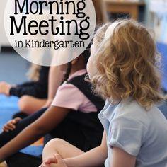 Our Morning Meeting In Kindergarten