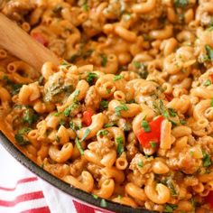 One-Pot Cheesy Beef Macaroni - a truly easy, one-pot meal that tastes like it took a lot more effort than is required!