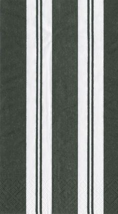 Caspari Awning Stripe black and white Printed 3-Ply Paper Guest Hand Towels Wholesale 13871G