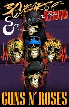 Guns N\' Roses Print by Anatol Tadorski on CreativeAllies.com