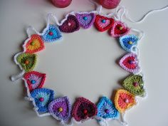 Level 14 - Crochet Hearts Garland