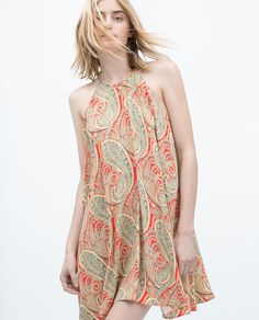 ZARA - WOMAN - PRINTED HALTER NECK TUNIC