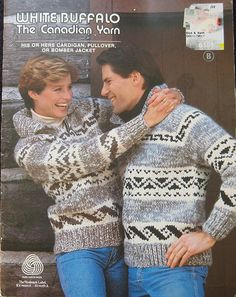 Vintage White Buffalo Cowichan Sweater Canadian by TheHowlingHag, $9.95