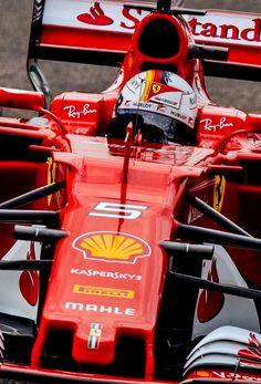 Ferrari SF70H - 2017:Twitter:@ScuderiaFerrari :#Seb5 passing #Kimi7 #ChineseGP