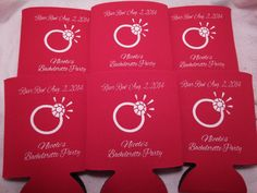 Bachelorette Koozies design 148601938 by odysseycustomdesigns