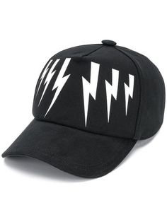 bf90e8f7f75 Neil Barrett Lightning print cap  220 - Buy SS19 Online - Fast Global  Delivery