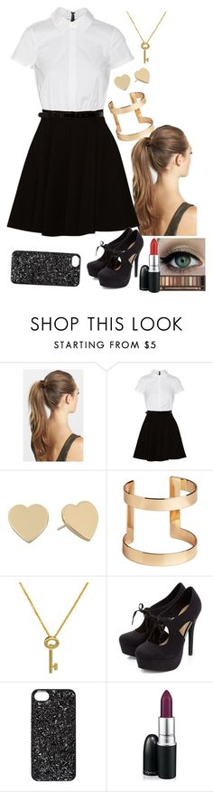"""69"" by h1997 ❤ liked on Polyvore featuring France Luxe, Alice + Olivia, Kate Spade, H&M, Roberto Coin, Marc by Marc Jacobs and MAC Cosmetics"