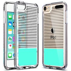 ULAK? Apple iPod Touch 6 Case, iPod Touch 5 Case,[CLEAR SLIM] High Quality Soft TPU Bumper Case Shockproof Cover for New iPod Touch 6 5th Generation_2015 Released (Black/white Stripes+Mint Green) ULAK http://www.amazon.com/dp/B016ZDUBCM/ref=cm_sw_r_pi_dp_zCxvwb1CPGXTC