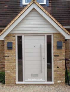 Disciplined helped contemporary porch design find more information Porch Uk, House Front Porch, Front Porch Design, Porch Windows, Porch Doors, Entrance Doors, Porch Designs Uk, Porch Extension, Double Door Design