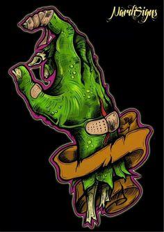 Arte Horror, Horror Art, Arte Black, Zombie Art, Lowbrow Art, Monster Art, Graffiti Art, Dark Art, Painting Inspiration