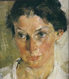 Nicolai Fechin, detail of portrait
