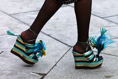 Stripey Accessories: Charlotte Olympia