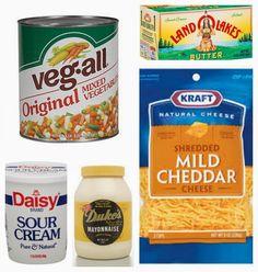 Veg All Casserole, Mixed Vegetable Casserole, Easy Casserole Recipes, Casserole Dishes, Chicken Casserole, Supper Recipes, Side Dish Recipes, Yummy Recipes, Vegetable Side Dishes