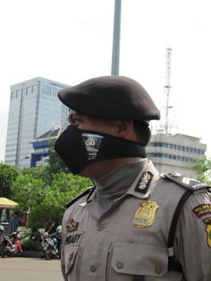 Police guiding a demonstration - Jakarta, Indonesia