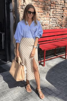 38 Spring Outfits That Aren't Just Floral Dresses – Fond / Of Office Fashion, Work Fashion, Fashion Looks, Mode Outfits, Casual Outfits, Fashion Outfits, Womens Fashion, Spring Summer Fashion, Spring Outfits