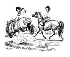 Breaking In Please Pass -- Thelwell Horse Cartoon, Cartoon Jokes, Cartoon Drawings, Cartoons, Funny Horse Memes, Funny Horses, Funny Equine, Horse Humor, Animals And Pets