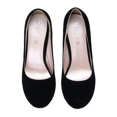 SheIn(sheinside) Black High Heel Hidden Platform Pumps ($25) ❤ liked on Polyvore featuring shoes, pumps, black hidden platform pumps, round cap, black shoes, rounded toe pumps and kohl shoes