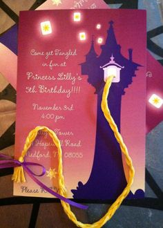 Tangled invitation by makeitfestive on Etsy. , via Etsy.