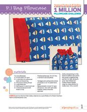 "Basic Pattern-FREE patterns: Kid's Style: PJ Bag Pillowcase-Boy  FREE PATTERNS We have created two great pillowcase patterns specifically geared towards teaching children to sew. The first pattern is our roll it up pillowcase pattern. Kids will love the ""magic"" that happens when they turn the tube right side out. The second pattern is a drawstring pillowcase that doubles as a bag."