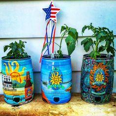 Bells Brewery mini keg-planters