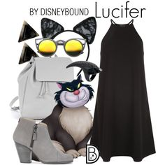 Lucifer by leslieakay on Polyvore featuring New Look, rag & bone, Zara TRF, Maison Close, ZeroUV, disney, disneybound and catlady