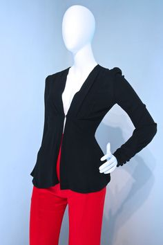 Vtg 60s 70s Ossie Clark fitted jacket in by VicAndBertieVintage