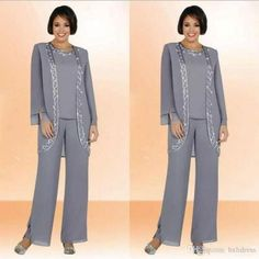 Modest 2016 Chiffon Jewel Long Mother Of The Bride Pant Suits With Long Sleeve Jacket Cheap Embroidery Formal Suits Custom Made Mother Of The Groom Suits, Mother Of The Bride Plus Size, Mother Of The Bride Gown, Mother Of Groom Dresses, Mothers Dresses, Mother Bride, Evening Dresses Plus Size, Evening Dresses For Weddings, Evening Gowns