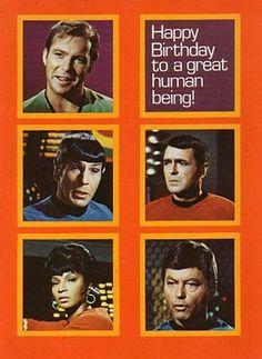 Birthday Wishes, Birthday Cards, Happy Birthday, Star Trek Birthday, William Shatner, Gifts For Family, Stars, Movie Posters, Illustration