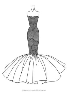 Fashion Lineart by anotherphilip Best Picture For fashion sketches gucci For Your Taste You are Dress Design Drawing, Dress Design Sketches, Fashion Design Sketchbook, Fashion Design Drawings, Fashion Sketches, Dress Designs, Art Sketches, Fashion Drawing Tutorial, Fashion Model Drawing