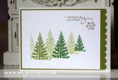 Christmas card using Festival of Trees from Stampin' Up! - with Michelle Last