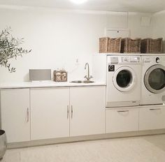 Image about beautiful in interior by It's Nufa. Laundry Nook, Laundry Room Design, Boot Room Utility, Modern Laundry Rooms, Laundry Room Inspiration, Bathroom Design Luxury, Küchen Design, Home Organization, Home Remodeling