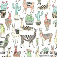 Michael Miller Fabric - Lovely Llamas - in shops now