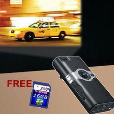 100A Portable Cinema Projector (Black) $94.99