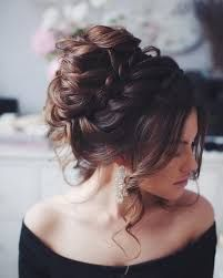 Image result for long hair bun front
