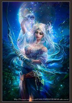 ... Artemis Diana Greek Goddess Art ....