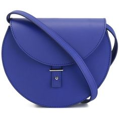 Pb 0110 'AB 21' saddle bag ($480) ❤ liked on Polyvore featuring bags, handbags, shoulder bags, purses, blue, blue leather purse, leather purses, saddle bags, leather man bags and leather hand bags